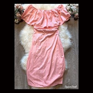 🌟3/$45 Gorgeous off should pink dress🎀 NWOT